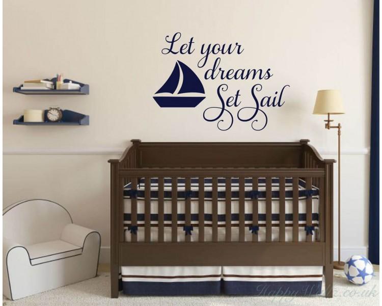 Let Your Dreams Set Sail Nautical Wall