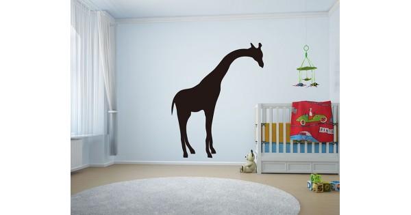 giraffe wall decals - giraffe growth chart vinyl wall art stickers