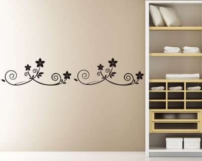 wall border - vinyl wall art border decals - removable wall border