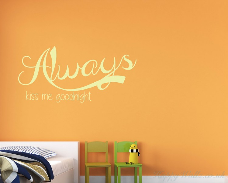 Wall Art Stickers B And Q : Always quotes wall art stickers