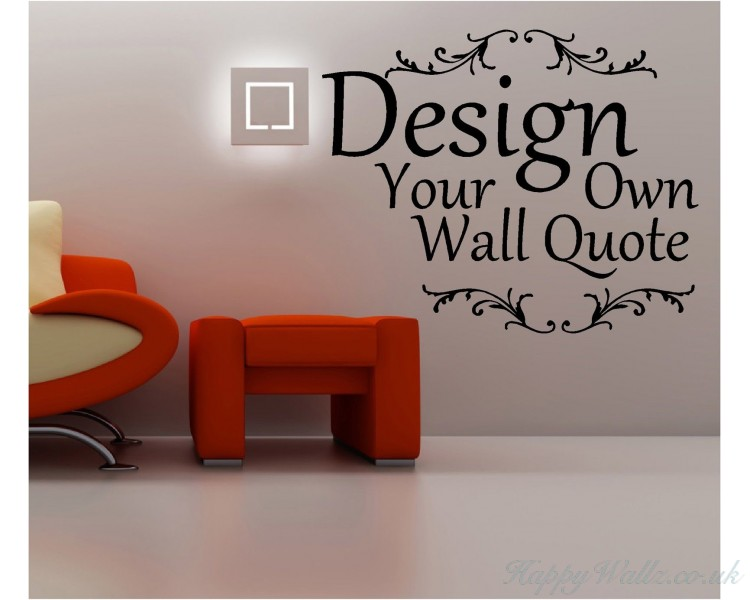 Custom Wall Decal Writing