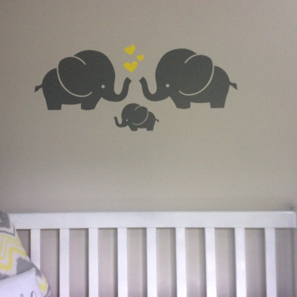 Elephant Familly Wall Decal Animal Stickers For Nursery - Instructions on how to put up a wall sticker